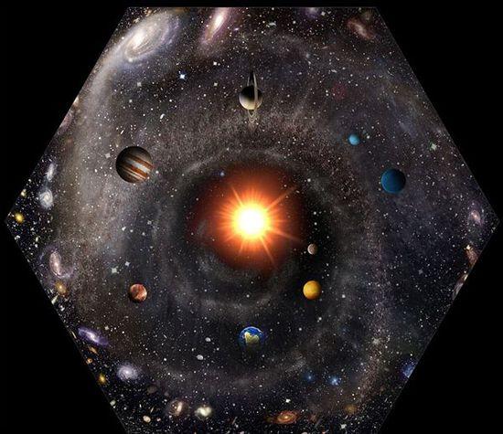 艺术家用一张图画出整个宇宙