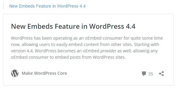 禁用WordPress的Embed功能 移除加载wp-embed.min.js文件